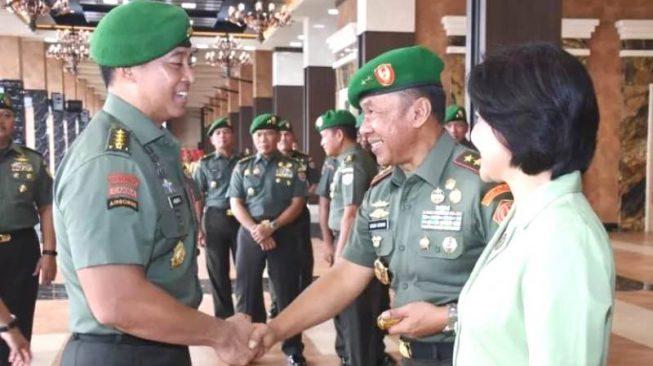 17 Pati TNI AD Laporan Korps Kenaikan Pangkat di Mabes AD