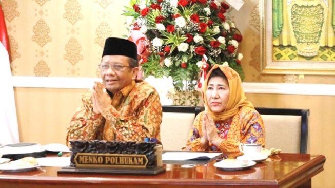 Usai Lebaran, Menko Polhukam Halal Bihalal Virtual Dengan Para Menteri